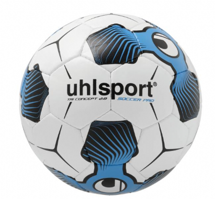 Tri Concept 2.0 Soccer Pro White / Black / Cyan (Size 4) Training / Match Ball